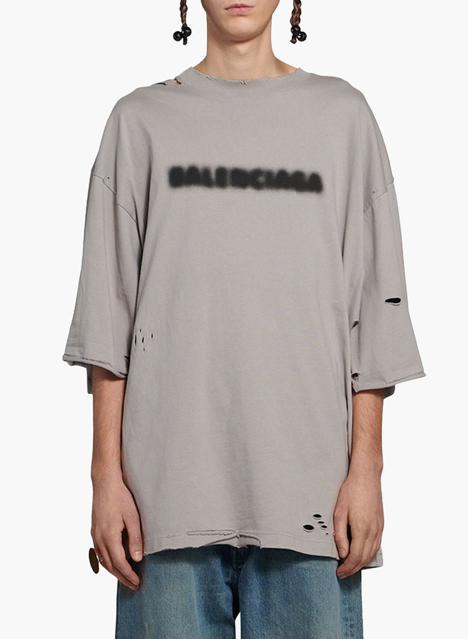 Balenciaga Destroyed Wide Fit T-Shirt