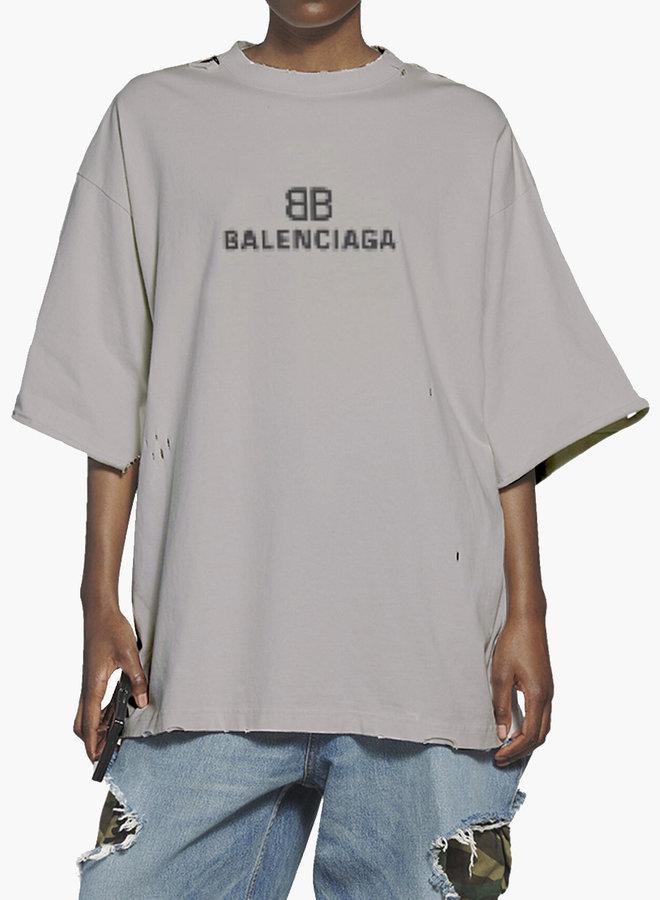 Balenciaga BB Pixel Large Fit T-Shirt