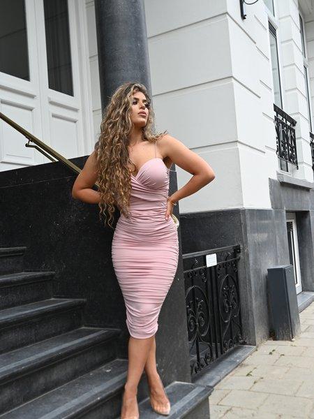 UNIQUE THE LABEL Khloe Dress Blush