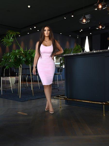 UNIQUE THE LABEL Lily Dress Pink