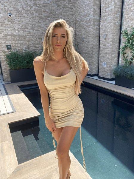 Kylie Dress Lurex Beige Gold