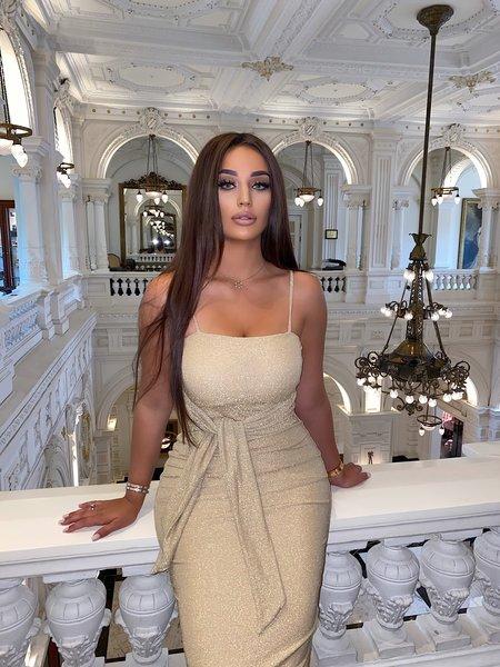 Jasmin Dress Lurex Beige Gold