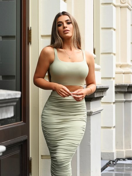 Chelsea Two Piece Sage Green