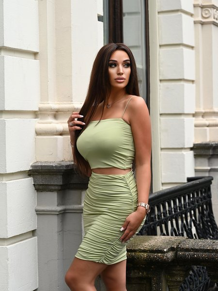 UNIQUE THE LABEL Jessy Two Piece Sage Green
