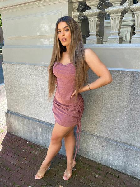 UNIQUE THE LABEL Kylie Dress Lurex Pink