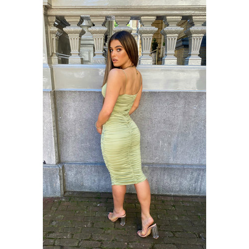 UNIQUE THE LABEL Khloe Dress Sage Green