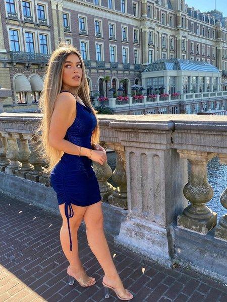 UNIQUE THE LABEL Kylie Dress Lurex Blue