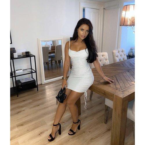 UNIQUE THE LABEL Kylie Dress Lurex Silver