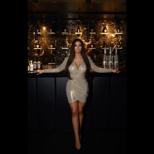 UNIQUE THE LABEL Faye Short Dress Gold