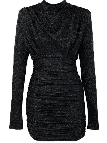 UNIQUE THE LABEL Holly Dress Lurex Black