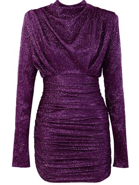 UNIQUE THE LABEL Holly Dress Lurex Dark Pink