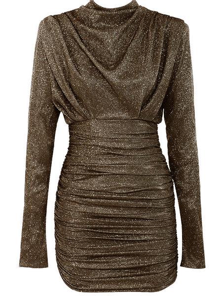 UNIQUE THE LABEL Holly Dress Lurex Black / Gold