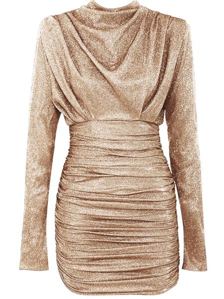 UNIQUE THE LABEL Holly Dress Lurex Beige Gold