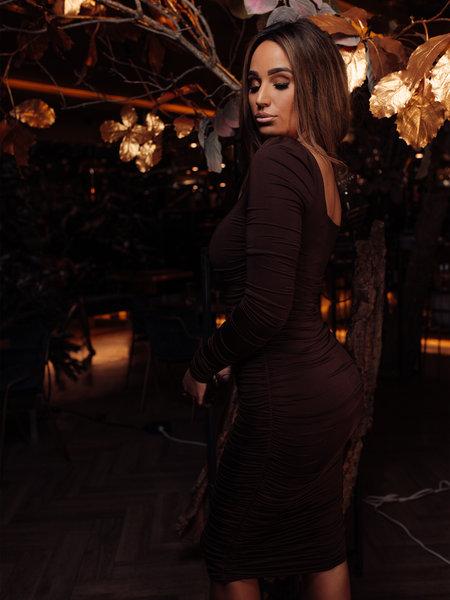 UNIQUE THE LABEL Lynn Dress Chocolate