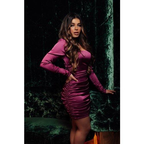 UNIQUE THE LABEL Ava Dress Dark Magenta
