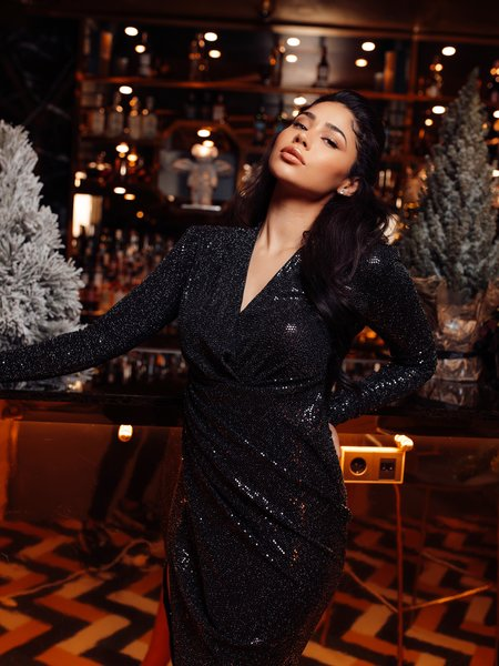 Faye Long Dress Black
