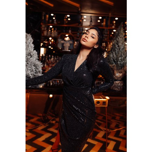 UNIQUE THE LABEL Faye Long Dress Black