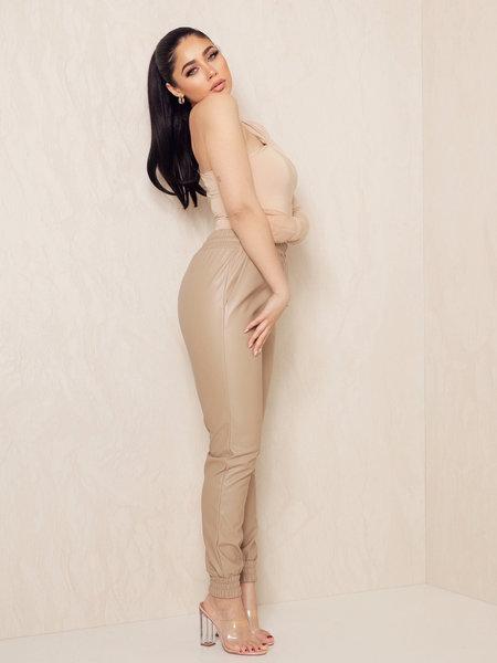 Elle Pants Dark Beige