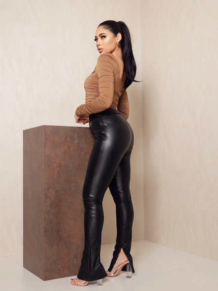Jazz Split Leather Pants