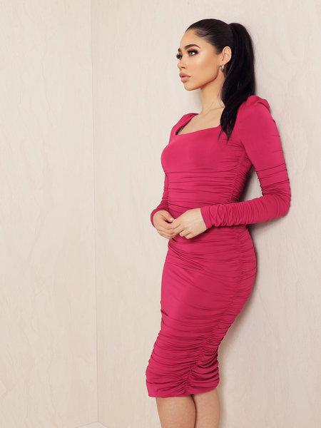 UNIQUE THE LABEL Lynn Dress Magenta