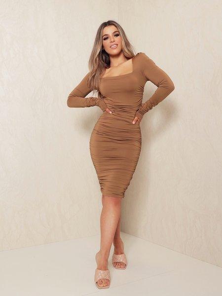 UNIQUE THE LABEL Lynn Dress Olive