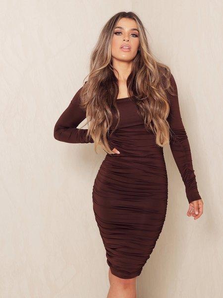 Lynn Dress Chocolate