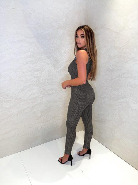UNIQUE THE LABEL Olivia Crop Top - Dark Grey