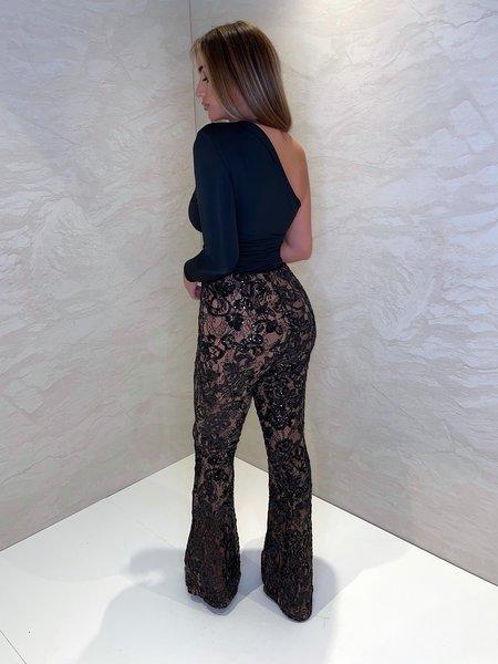 UNIQUE THE LABEL Avery Lace Pants Black