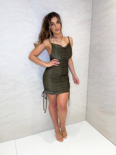 Kylie Dress Lurex Gold/Black