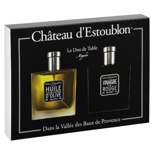 Chateau d'Estoublon Table duo olive oil and red wine vinegar in spray bottles