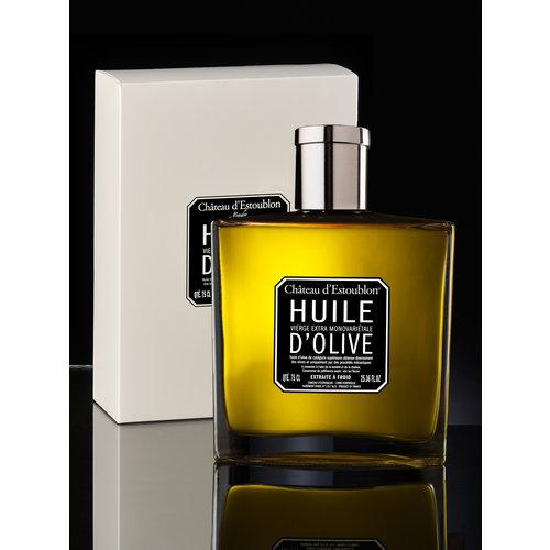 Chateau d'Estoublon Flacon Couture  - Etui Blanc  Huile d'olive extra vierge
