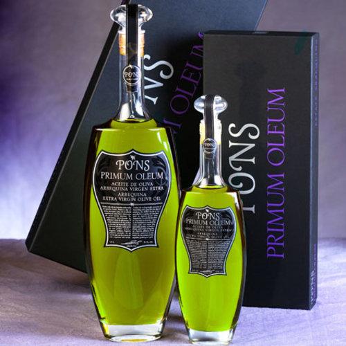 Pons Primum Oleum Extra vierge olijfolie in luxe geschenkverpakking
