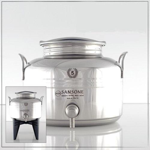 Sansone Fût de robinet 5 litres en acier inoxydable
