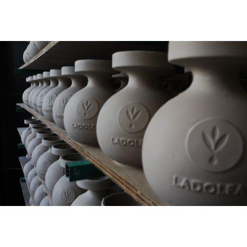Ladolea Set aus Olivenöl und süßem Essig in Keramikgläsern - BIO