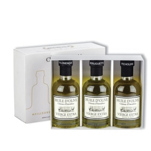 Chateau d'Estoublon Set of 3 bottles Extra virgin olive oil in gift box