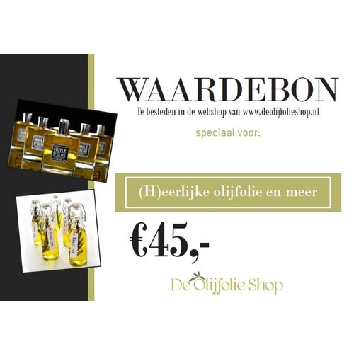 Overige merken Waardebon voor € 45,00