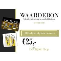 Gift voucher for € 25.00