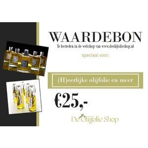 Overige merken Bon cadeau de 25,00 €