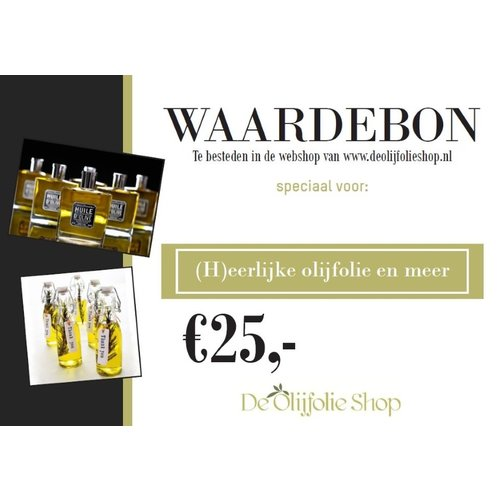 Overige merken Waardebon voor € 25,00