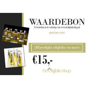 Overige merken Bon cadeau de 15,00 €