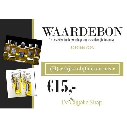 Overige merken Waardebon voor € 15,00