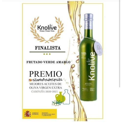 Knolive Knolive Epicure 500ml Huile d'olive extra vierge