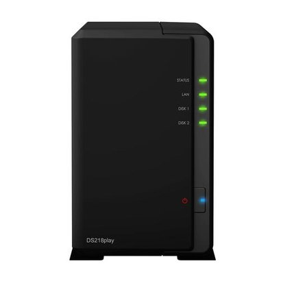 Synology DiskStation DS218play RTD1296 Ethernet LAN Compact Zwart NAS