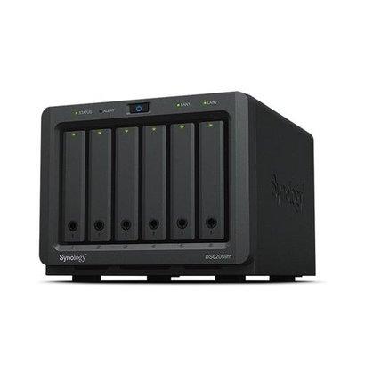 Synology DiskStation DS620SLIM data-opslag-server J3355 Ethernet LAN Desktop Zwart NAS