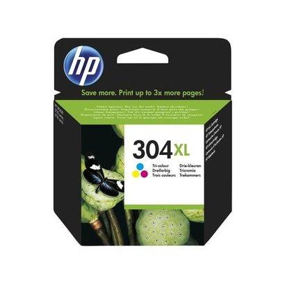 HP 304XL Tri-color Original Origineel Cyaan, Magenta, Geel
