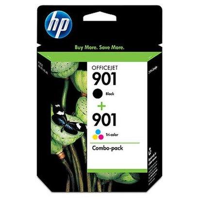 HP 901XL High Yield Black/901 Tri-color 2-pack Origineel Zwart, Cyaan, Magenta, Geel