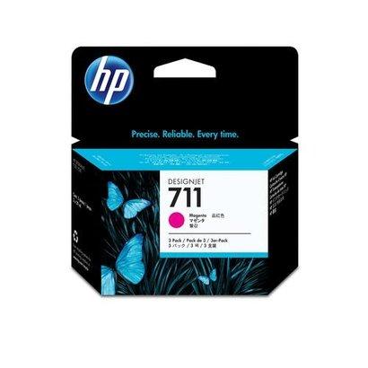 HP 711 Origineel Magenta 3 stuk(s)