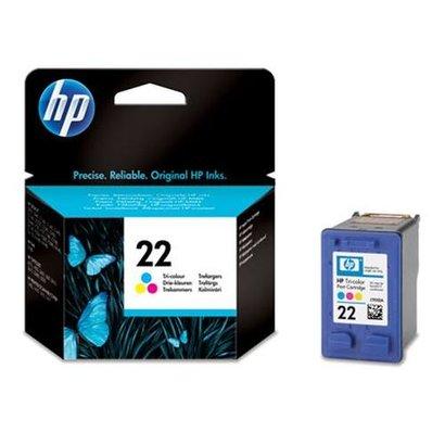 HP 22 Tri-color Inkjet Print Cartridge Origineel Cyaan, Magenta, Geel 1 stuk(s)