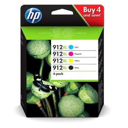 HP 912XL Origineel Zwart, Cyaan, Magenta, Geel Multipack 4 stuk(s)