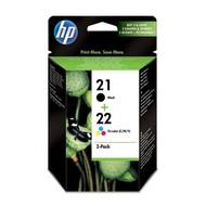 HP 21/22 Origineel Zwart, Cyaan, Magenta, Geel 2 stuk(s)